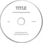 Text Only CD/DVD Printing