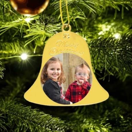 Metal Christmas Bell - Gold