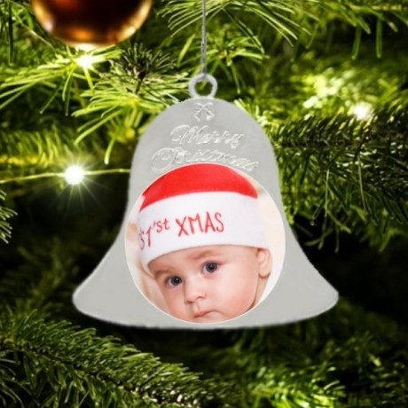 Metal Christmas Bell - Silver