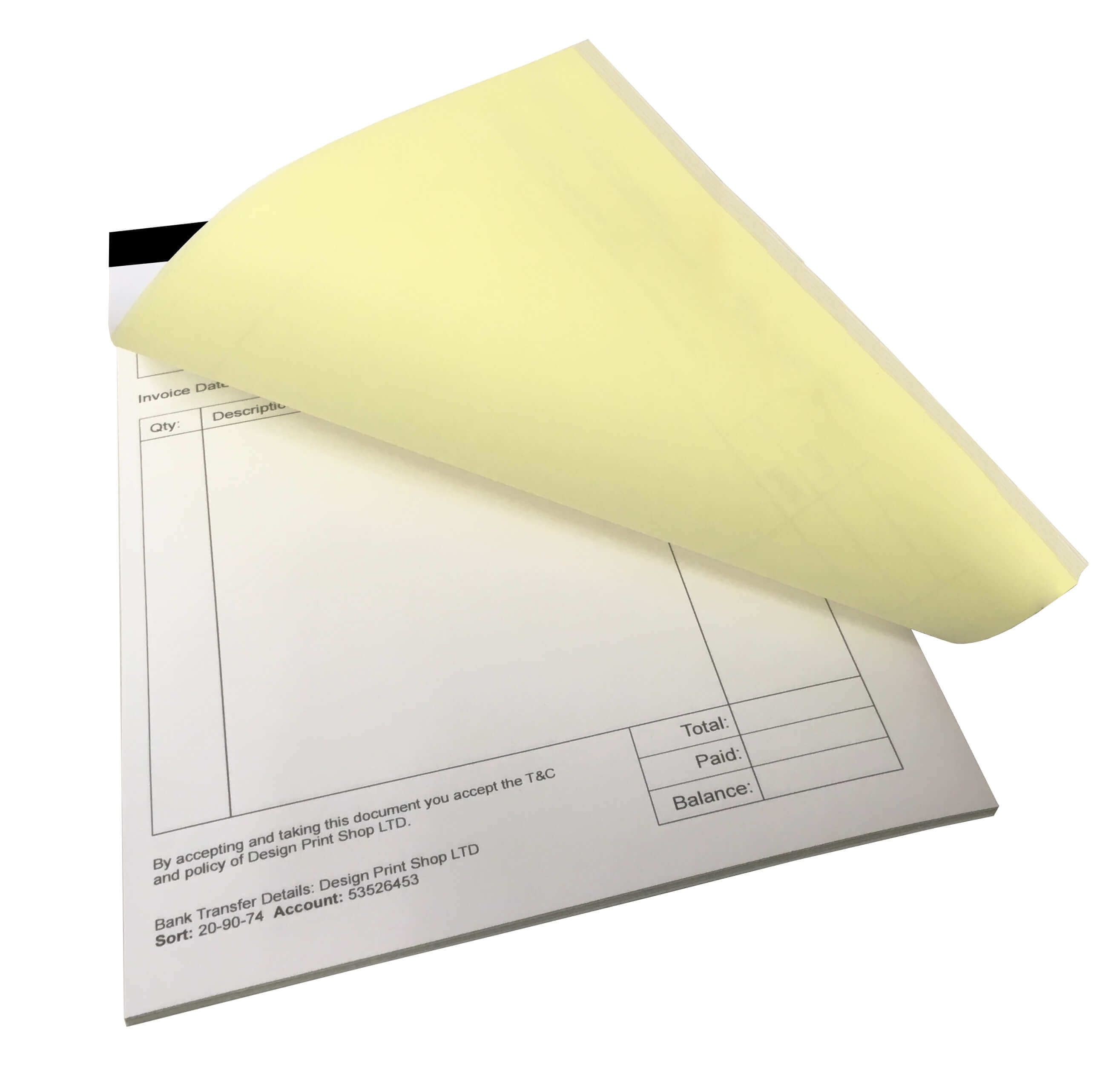 Custom Invoice Printing London