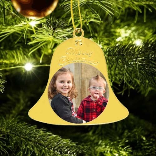 Metal Christmas Bell - Gold