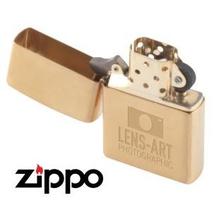 Zippo Lighter - Brushed Brass