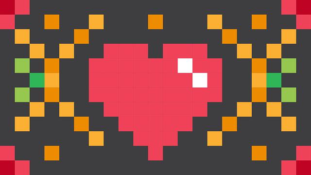Close image of pixels